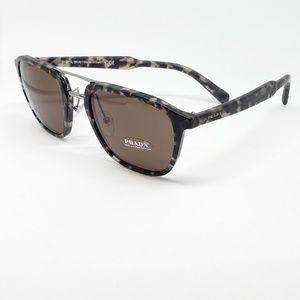 Prada Sunglasses Grey/Tortoise w/Brown